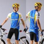 ชุดปั่นจักรยาน เสื้อปั่นจักรยานแขนสั้น + กางเกงปั่นจักรยานขาสั้น