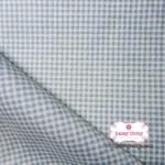 ผ้าคอตตอนไทย 100% 1/4 ม.(50x55ซม.)ลายตารางเล็ก สีฟ้า