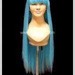 วิกผมคอสเพลย์ สีฟ้า ผมตรง มีหน้าม้า Light Blue Cosplay Wig