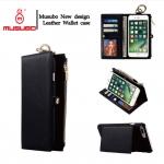 เคสไอโฟน 7 Plus กระเป๋าหนังอเนกประสงค์ 2 In 1 กระเป๋าตังค์+เคสโทรศัพท์ สีดำ