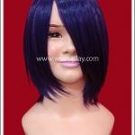 วิกผมสีม่วงเข้ม ซอยสไลซ์สั้น Dark Purple Short Slice Cosplay Wig
