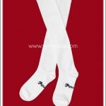 ถุงเท้าโกธิคโลลิต้าพังค์ ยาวเหนือเข่า สีขาว