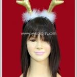 ที่คาดผมเขากวางเรนเดียร์ สีทอง Gold Reindeer Antler Headband
