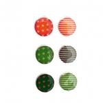 ปุ่มโฮมไอโฟน Dot and Stripe (1 Pack/6 ชิ้น)