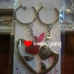 พวงกุญแจตู่รัก ดอกไม้หัวใจคู่ 46