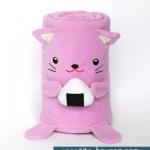 ผ้าห่มม้วน แมว (Niki) ยี่ห้อ Minojo ## พร้อมส่งค่ะ ##