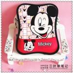Mouse Pad (ที่รองเม้าส์) ขนาด 25*19 CM ลาย Mickey Mouse สีแดง