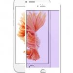 ฟิล์มกระจก 3D แสงม่วงเป็นมิตรต่อดวงตา ฟิล์มแบบเต็มจอ สีขาว สำหรับ Iphone 6Plus/6sPlus