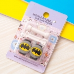 อุปกรณ์ถนอมหูฟัง/สายชาร์จโทรศัพท์มือถือ Batman (1 Pack/1 คู่)