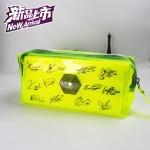 กระเป๋า PVC ใส สีเหลือง