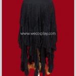 กระโปรงโกธิคพั้งค์ สีดำ ชายระบายยาว Black Gothic Punk Skirt