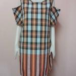 เสื้อ/ แซก รุ่น: เว้าไหล่ คละสีคละลายตามแบบฉบับผ้าขาวม้า