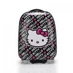 *Pre-Order* กระเป๋าเดินทางล้อลาก Hello Kitty วัสดุ PVC พิมพ์ลาย ขนาด 16 นิ้ว สีดำ