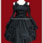 เดรสแบล๊กฮิเมะโกธิคโลลิต้า สีดำ Black Hime Gothic Lolita Dress