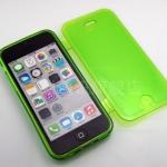 เคสไอโฟน 5C (TPU CASE) คลุมรอบเครื่องแบบมันใส สีเขียว ปิดปกหน้า Touch ได้