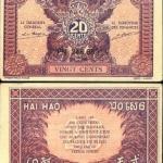 ธนบัตรอินโดจีน รหัส P 89 ชนืด 10 เซ็นต์ ปี 1942 ยังไม่ผ่านการใช้งาน UNC