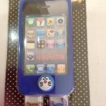เคสไอโฟน 4/4s (Case iphone 4/4s) เคสซิลิโคนสีน้ำเงิน เปลี่ยนหัวได้ 3 หัว