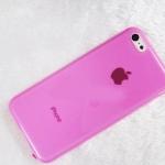 เคสไอโฟน5C (TPU Case) เคสนิ่มคลุมรอบเครื่องสีชมพูเข้ม