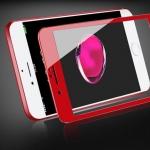 ฟิล์มกระจก 3D เต็มจอ แกร่ง ทน 9H สำหรับ Iphone 7 (สีแดง)