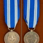 เหรียญตราสหรัฐอเมริกา ชนิด North Atlantic Treaty Organization (NATO) Medal 1 เหรียญ ใช้แล้ว