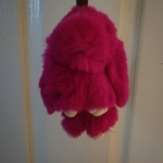 กระต่ายสีชมพูบานเย็น 13cm