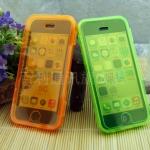 เคสไอโฟน 5C (TPU CASE) คลุมรอบเครื่องแบบมันใส สีส้ม ปิดปกหน้า Touch ได้