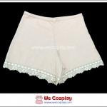 กางเกงซับใน ผ้าคอตต้อน สีเนื้อ ขาขอบลูกไม้