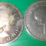เหรียญเงินอินเดีย 1 รูปี 2 เหรียญ ปี 1905 สภาพสวย หายาก