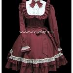 Classic Lolita Dress เดรสคลาสสิคโลลิต้า สีชมพูกลีบกุหลาบ