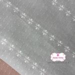 ผ้าทอญี่ปุ่น 1/4เมตร สีเทาทอลายดอก