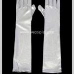 ถุงมือยาว สีเงิน Silver Long Gloves