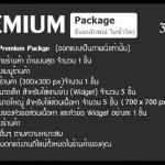รับตกแต่งร้านค้าออนไลน์ แบบ Premium Package