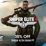 PSN Store US - Sniper Elite 4 Sale 35%