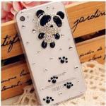 เคสไอโฟน 5/5s/SE (Case Iphone 5/5s/SE) กรอบโปร่งใสประดับหมีแพนด้า