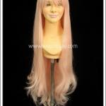 วิกผมคอสเพลย์ ยาวตรง มีหน้าม้า สีชมพู Pink Cosplay Wig