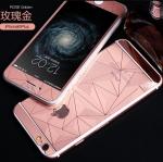 ฟิล์มกระจกลายเพชร หน้า-หลัง Iphone 6Plus/6sPlus สีชมพู
