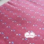 ผ้าทอญี่ปุ่น 1/4ม.(50x55ซม.) สีแดงกล่ำ ทอลายเครืองหมายบวกเล็กๆ