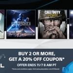 PSN Store US - Day 1 Digital ซื้อ 2 เกมขึ้นไปได้รับ code ลด 20% (ใช้ครั้งถัดไป)