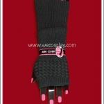 ปลอกแขนไหมถัก สีเทา Grey Knitting Arm Warmer