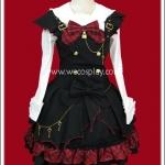 ชุดพังค์โลลิต้า นาโอมิแบทเกิร์ล สีดำแดง Red Naomi Bat Girl Punk Lolita Separate