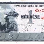 ธนบัตรเวียดนามใต้ รหัส P11 ชนิด 1 ดอง สภาพ UNC ไม่เคยผ่านการใช้งาน