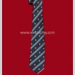 เนคไทนักเรียนญี่ปุ่น ลายริ้วสีน้ำเงิน School Necktie