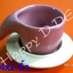 ของชำร่วย แก้วน้ำ พร้อมจานรองแก้ว เซรามิค GD-ca55