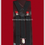 สายเอี๊ยม สีดำ Black Suspenders