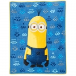 Despicable Me Micro Raschel Throw Blanket - Minion Kevin - Blue