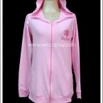 เสื้อแจ็คเก็ตโลลิต้า สีชมพู มีฮู้ดหูหมี Pink Lolita Jacket with Bear Hood