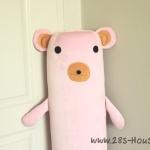ปลอกหมอนข้างตุ๊กตาหมี สีชมพู ## พร้อมส่งค่ะ ##