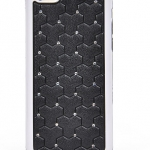 เคสไอโฟน 5C (Hard Case ขอบยาง) ประดับเพชร สีดำ