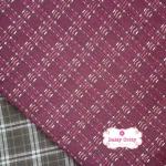 ผ้าทอญี่ปุ่น 1/4ม.(50x55ซม.) สีแดงกล่ำ เล่นลายด้าย
