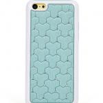 เคสไอโฟน 5C (Hard Case ขอบยาง) ประดับเพชร สีฟ้า